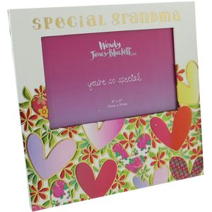 "Wendy Jones Blackett Photo Frame 6"" x 4"" - Special Grandma"