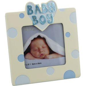 """Photo Frame Gift - Baby Boy 3x3"""""""