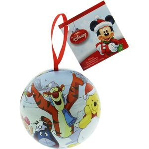 Disney Xmas Tin Ball Winnie the Pooh Hanging Ornament