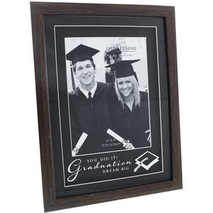 "Graduation Photo Frame (Wood Effect) 6x8"""