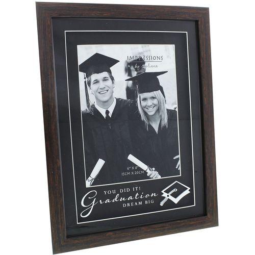 "Juliana Impressions Wood Effect Photo Frame  6"" x 8"" - Graduation"