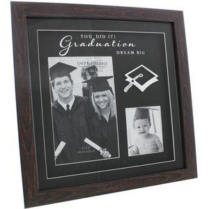 Graduation Square Double Photo Frame