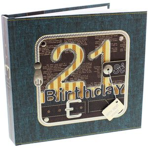 "Laura Darrington Photo Album Holds 50 4x6"" Prints - 21st Birthday"