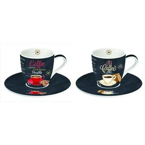 Ardesia Range Porcelain Espresso Cup & Saucers