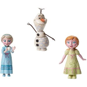 Disney Traditions Mini Figurines Gift Set - Frozen Anna Elsa & Olaf