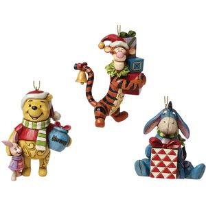 Disney Traditions Pooh Eeyore & Tigger Tree Ornaments