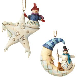 Heartwood Creek Hanging Ornament Set Moon & Star