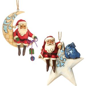 Heartwood Creek Hanging Ornament Set - Santa Moon & Star