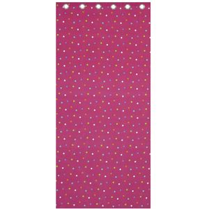"Catherine Lansfield Kids Curtains 66"" x 72"" - Pink Multi Spot"