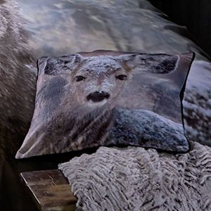 Catherine Lansfield Oh Deer Cushion Cover 43x43cm