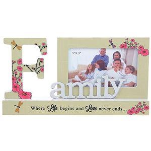 Pretty Reflect Word Frame - Family