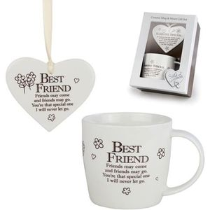 Said with Sentiment Heart & Mug Gift Set - Best Friend