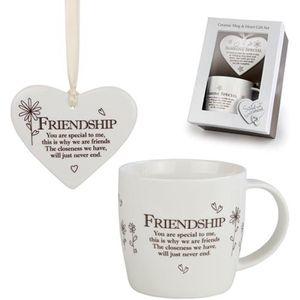 Said with Sentiment Heart & Mug Gift Set - Friendship