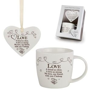 Said with Sentiment Heart & Mug Set: Love