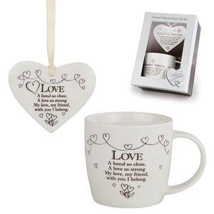 Said with Sentiment Hearts & Mug Gift Set - Love