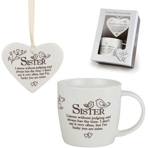 Heart & Mug Gift Set - Sister