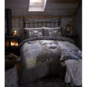 Catherine Lansfield Oh Deer Duvet Quilt Cover Set - King Size Bed