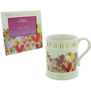 "Wendy Jones Blackett Mug & Photo Frame (6"" x 4"") Set - Special Grandma"