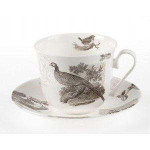 Roy Kirkham Breakfast Cup & Saucer Gift Set - RSPB Woodland Scene