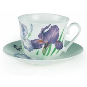 Iris Breakfast Cup & Saucer Gift Set