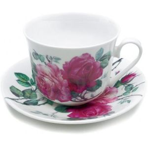 Roy Kirkham Breakfast Cup & Saucer Gift Set - English Rose