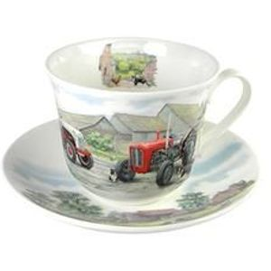 Roy Kirkham Breakfast Cup & Saucer Gift Set - Countryside Tractors