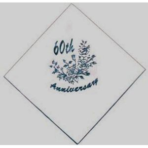Pack of 60 Diamond 60th Anniversary Napkins
