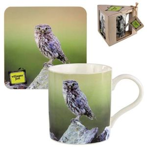 Villager Jim Lucy Little Owl Mug & Coaster Set
