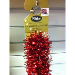 Christmas Garland Tinsel - Red 5x2M