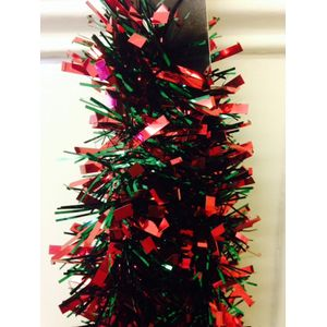 Christmas Garland Tinsel - Red & Green 5x2M