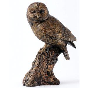 Langholm Design Owl Bronzed Effect Figurine