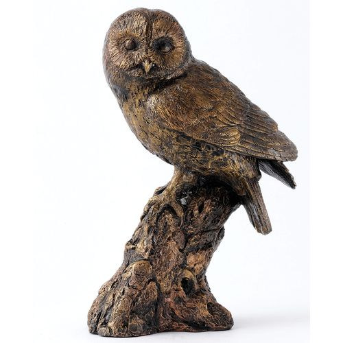 Bronzed Owl Figurine from Langholm Gallery Collection