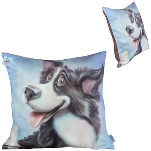 Pets with Personality Border Collie Cushion