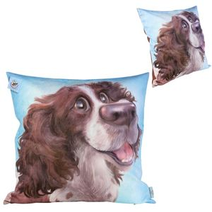 Pets with Personality Springer Spaniel Cushion