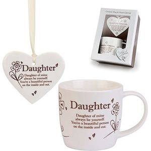 Said with Sentiment Heart & Mug Set: Daughter