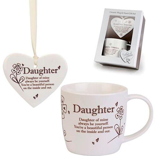 Said with Sentiment Heart & Mug Gift Set - Daughter