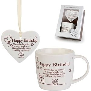 Said with Sentiment Heart & Mug Set: Happy Birthday