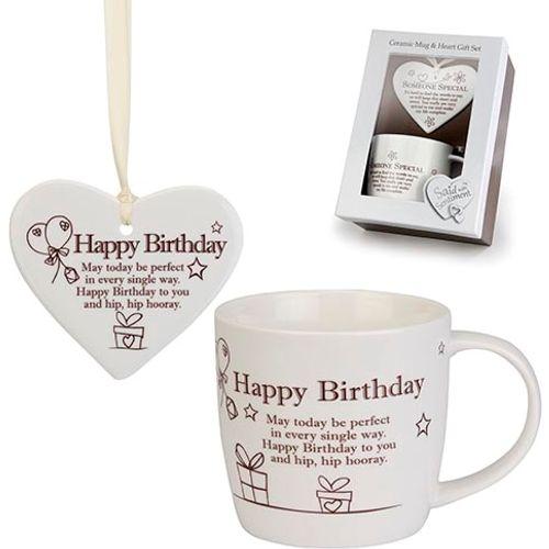 Said with Sentiment Heart & Mug Set - Happy Birthday