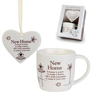 Said with Sentiment Heart & Mug Gift Set New Home