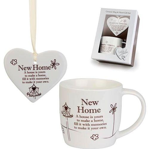 Said with Sentiment Heart & Mug Gift Set - New Home