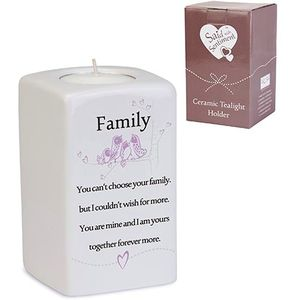 Said with Sentiment Family Sq Tealight Holder