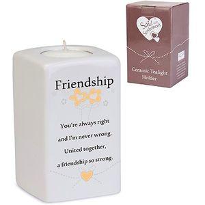 Said with Sentiment Friendship Sq Tealight Holder
