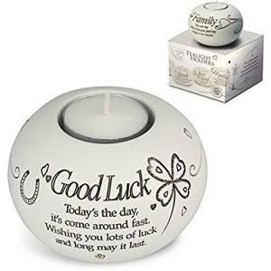 Said with Sentiment Candle Holder: Good Luck