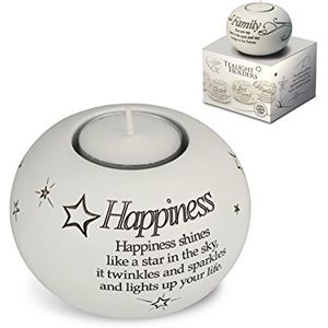 Said with Sentiment Candle Holder: Happiness