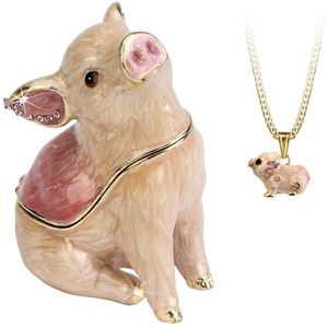Hidden Treasures Secrets Pig Trinket Box