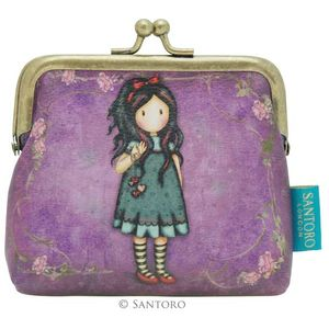 """Gorjuss 4"""" Clasp Purse - Pulling on Your Heart Strings"""