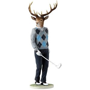 Stags with Style - Golfer Jack Figurine