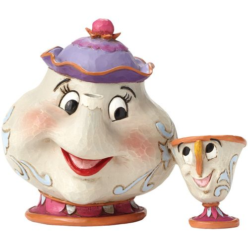 Disney Traditions Mrs Potts & Chip Beauty & The Beast Figurine