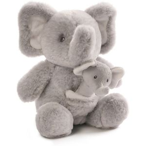 Gund Baby Soft Toy & Rattle Set - Elephant