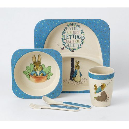 Made from Bamboo Peter Rabbit Plate Bowl Cup & Cutlery